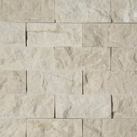 2 X 4 Split Face Mosaic Tile Beige Marble Honed