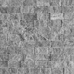 1 X 2 Split Face Mosaic Tile White Grey Marble Honed