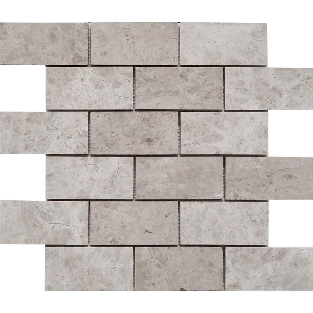 2 X 4 Mosaic Tile Stone Tundra Grey
