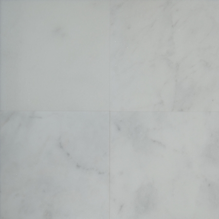 12 x 12 Tile White Marble Polished