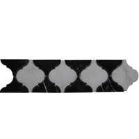 Border Mosaic Tile White Black Marble Polished Border-Mosaic-Tile-White-Black-Marble-Polished