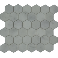 Honeycomb Mosaic Tile White Marble Polished