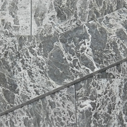 4 x 12 Tile White Grey Marble Polished