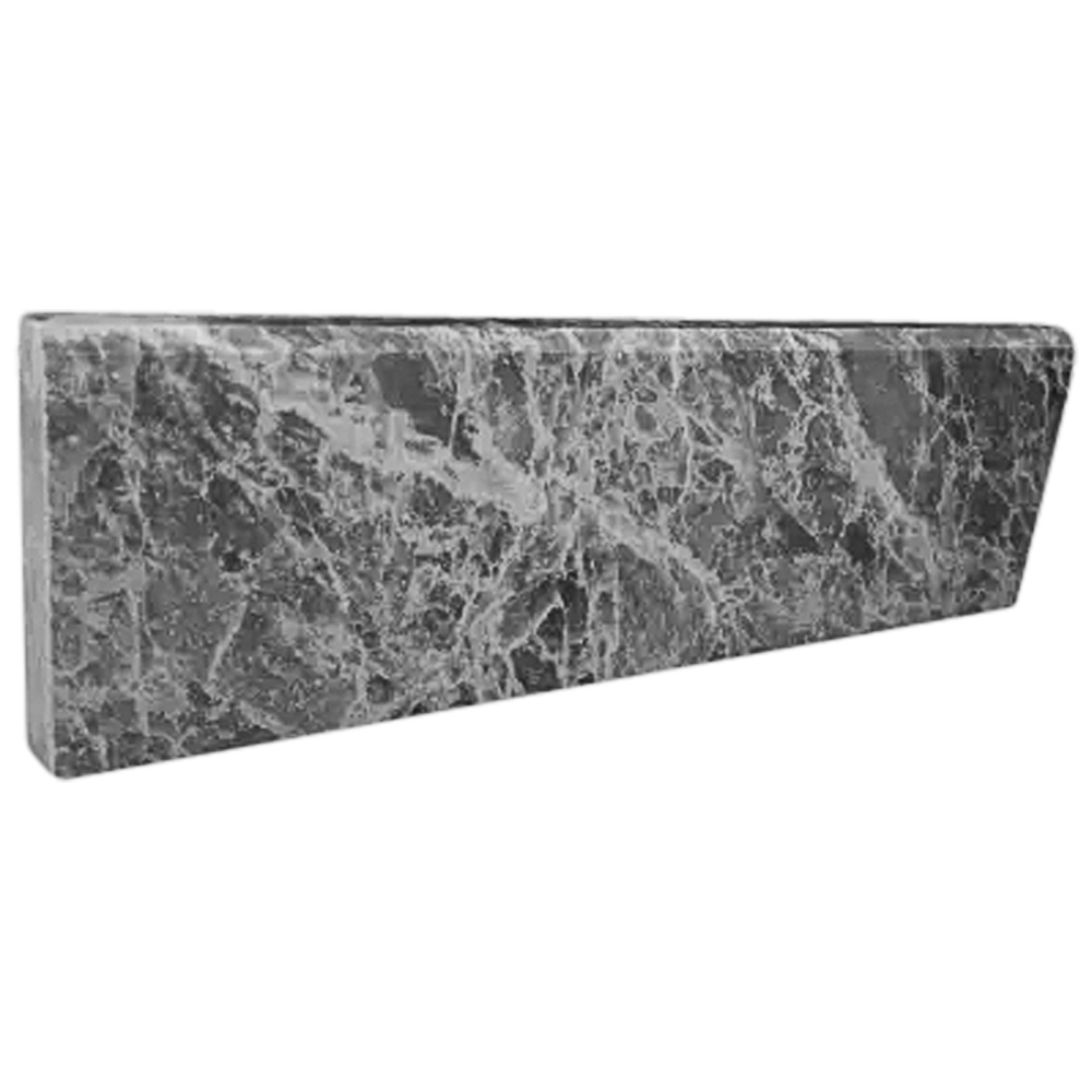 Stone Baseboard White Grey Marble