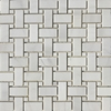 Basketweave Mosaic Tile Whole Dolomite Marble Polished - DMPGPB12