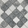 Lantern Arabesque Mosaic Tile Light Grey Dolomite Marble