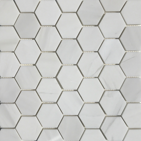 2 Inch Hexagon Mosaic Tile Whole Dolomite Marble Polished