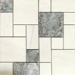 Mini Versailles Tile Mosaic Dolomite Grey Mixed