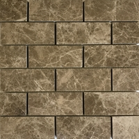 2 x 4 Mosaic Tile Emperador Light Marble Polished