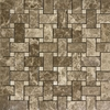 Basketweave Mosaic Tile Emperador Light Beige Marble Polished - EPMPB12