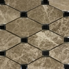 Boliche Mosaic Tile Emperador Light Black Marble Polished - EPEBLC