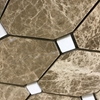 Diamond Mosaic Tile Emperador Light White Marble Polished - EPWEBLC