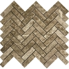 Herringbone Mosaic Tile Emperador Light Marble Polished - EPB432