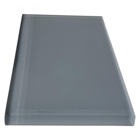 3 x 6 Atlantic Grey Subway Glass Tile