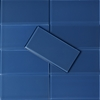 3 x 6 Blue Subway Glass Tile