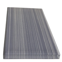 3 x 6 Pacific Grey Line Subway Glass Tile
