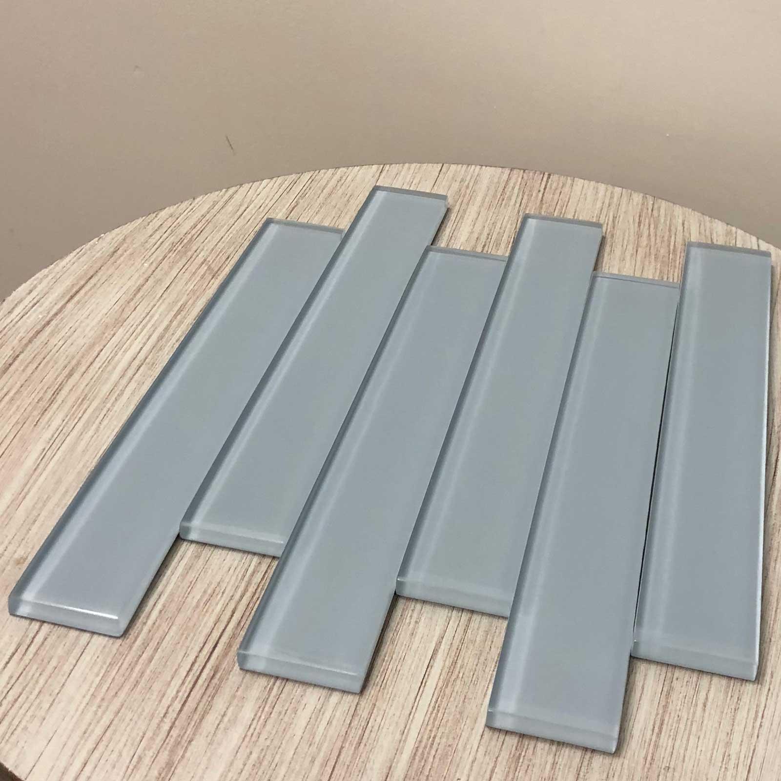 Pewter Glass Tile 2 x 12 Polished