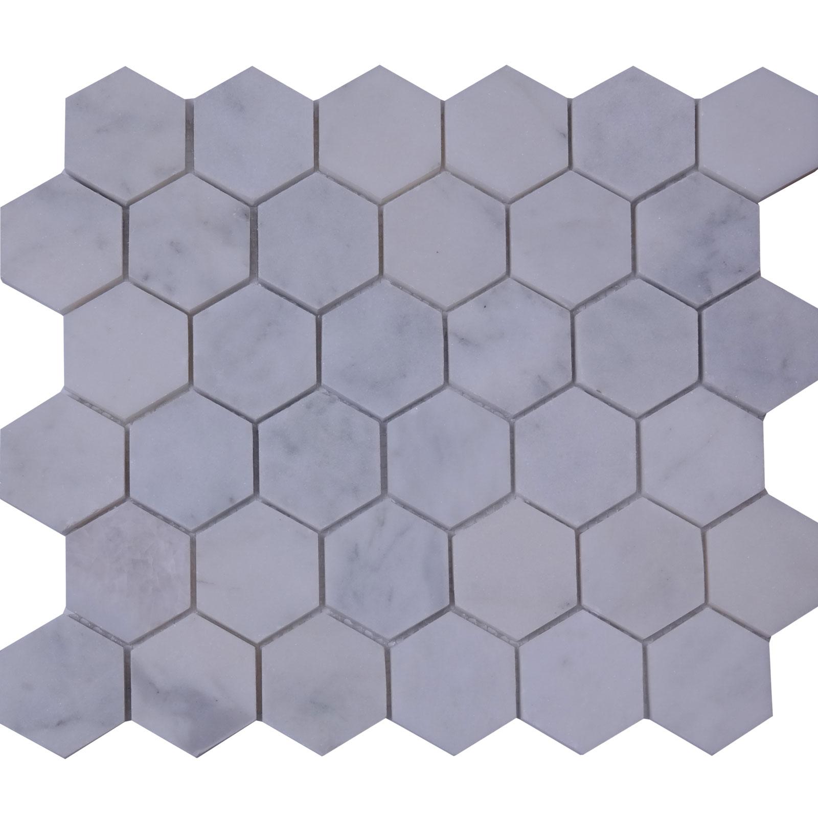 Hexagon Mosaic Carrara Tile