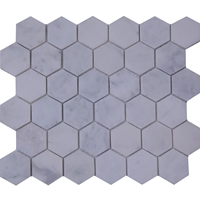 Honed 2 Inch Hexagon Mosaic Tile Imperial Carrara Marble