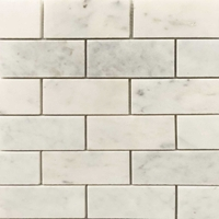 2 x 4 Honed Tile Mosaic Imperial Carrara