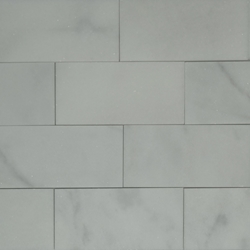 3 x 6 Honed Tile Imperial Carrara Marble