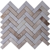 Herringbone Tile Mosaic Imperial Carrara Mixed Autumn Onyx - IMMPH13AOX
