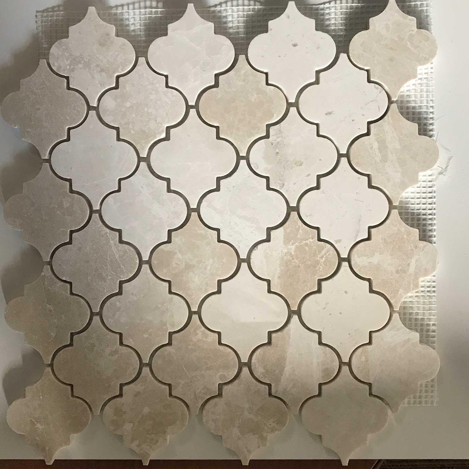 - Botticino Marble Arabesque Lantern Tile