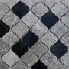Lantern Arabesque Mosaic Tile Dark Grey Black Marble - DRG19028