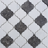 Lantern Arabesque Mosaic Tile Dolomite White Dark Grey Marble