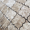 Lantern Arabesque Mosaic Tile Emperador Light Marble Polished - ELBLMAMG