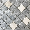 Lantern Arabesque Mosaic Tile Light Grey Botticino Marble - LAMGPBW