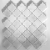 Lantern Arabesque Mosaic Tile White Marble Polished - WLMWEP2