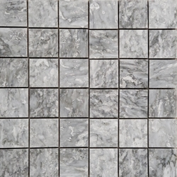 2 x 2  Mosaic Tile Light Grey White Marble Polished