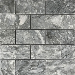 2 x 4 Mosaic Tile Light Grey Marble Polished