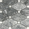 Boliche Mosaic Tile Light Grey White Marble Polished - LG4BLC