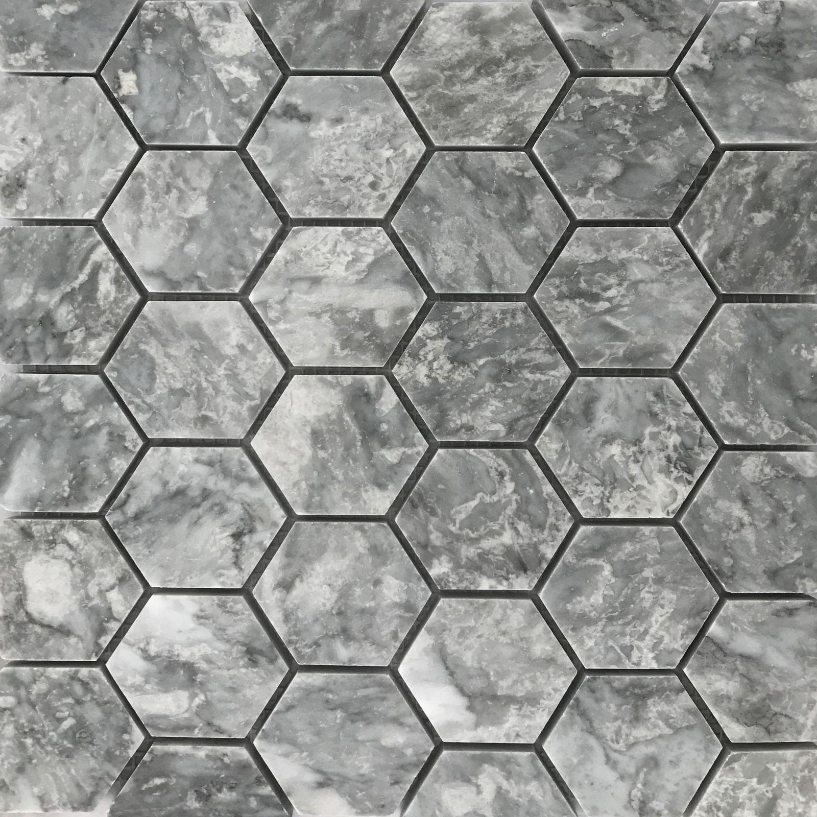 Hexagon Mosaic Grey Tile