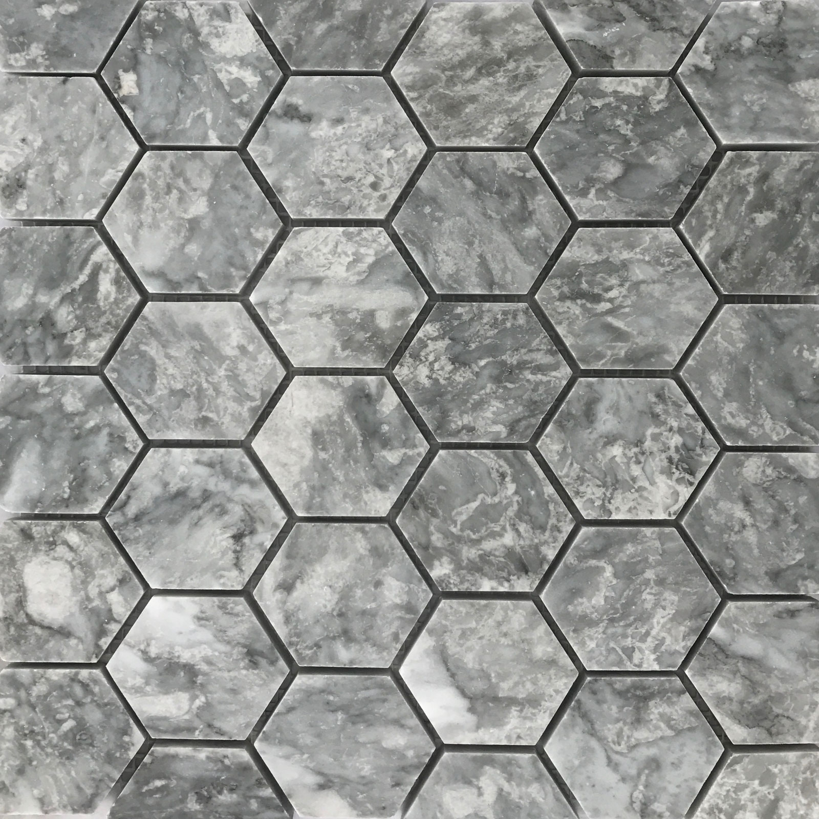 Hexagon Mosaic Grey Tile