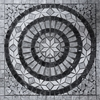 Medallion Mosaic Tile Light Grey White Marble Polished