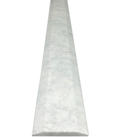 6 x 36 Saddle Threshold Double Hollywood White Marble Stone