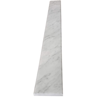 4 x 24 Saddle Threshold Italian White Carrara Marble Stone 5/8 Inches Thick