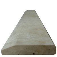 4 x 24 Hollywood Saddle Threshold Ivory Light Travertine Matte