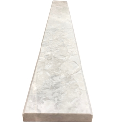 4 x 24 Saddle Threshold Moon White Carrara Marble Stone