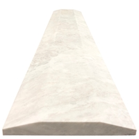 6 x 36 Double Hollywood Threshold Moon White Carrara Marble