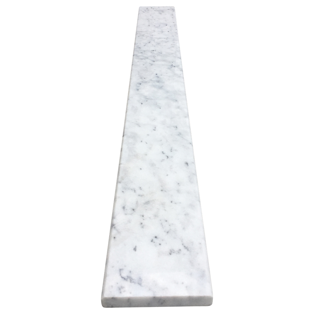 Carrara Threshold: 4 X 36 Saddle Threshold Tiger Carrara Marble Stone