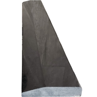 4 x 24 Hollywood Saddle Absolute Black Granite Stone