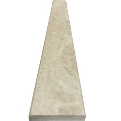 4 x 24 Saddle Threshold Cappuccino Beige Marble Stone