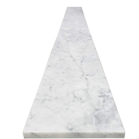 6 x 36 Saddle Threshold Italian White Carrara Marble Stone 5/8 Inches Thick
