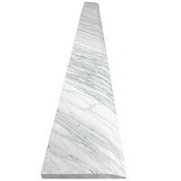 4 x 24 Hollywood Saddle Threshold Italian White Carrara Marble Stone 3/4 Inch Thick