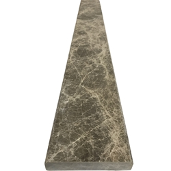 4 x 24 Saddle Threshold Dusky Emperador Marble Stone