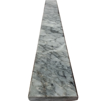 4 x 24 Saddle Threshold Dark Grey Marble Stone